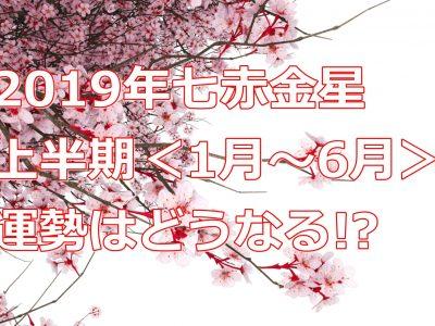 2019年の運勢は!?七赤金星の上半期の運気を徹底解剖!!
