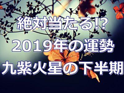 2019年九紫火星の運勢は!?無料なのに当たる!?下半期運気を徹底解説!