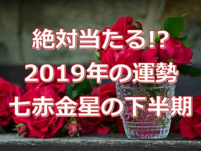 2019年七赤金星の下半期運勢を無料で診断!絶対当たる!?